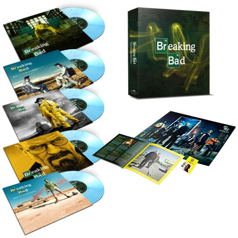 "Breaking Bad / 10th anniversary 5 x 10"" coloured vinyl box set"