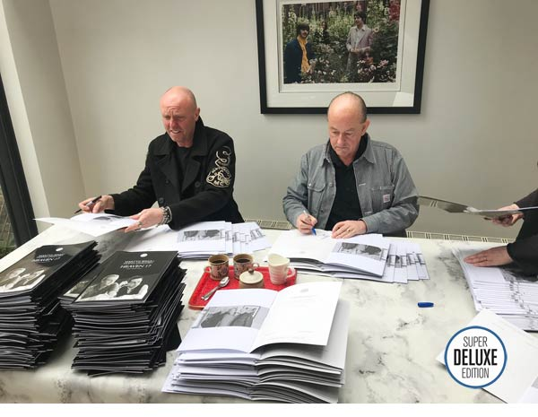 Martyn and Glenn from Heaven 17 sign the SDE interview booklets
