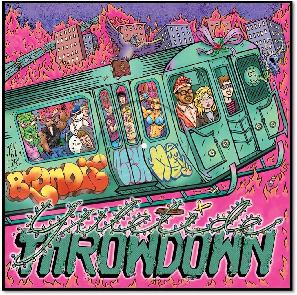 Blondie and Fab 5 Freddie / Yuletide Throwdown pink vinyl 12-inch EP